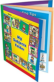 Really Good Stuff My Subjects Folders – All-in-One 4-Pocket Folders for Math, Science, Social Studies, and Language Arts – Set of 12