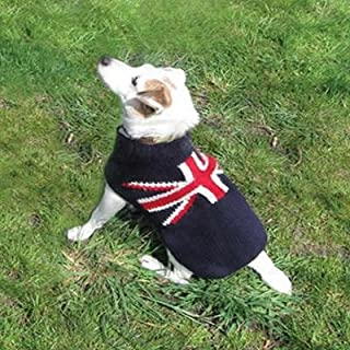Chilly Door Handmade Dog Sweater Union Jack Medium