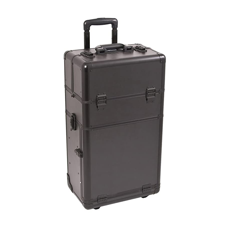 Craft Accents I3462 Smooth Trolley Craft/Quilting Storage Case, Black
