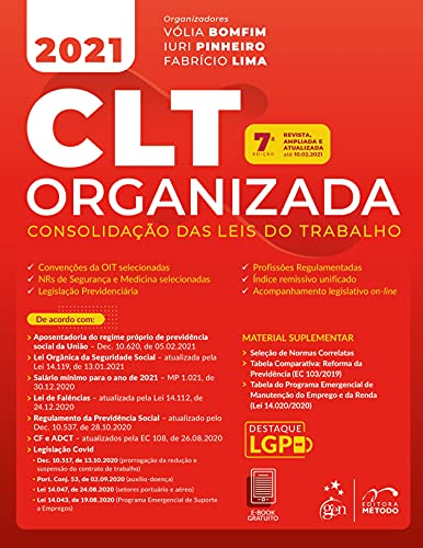 CLT Organizada - Consolidação das Leis do Trabalho
