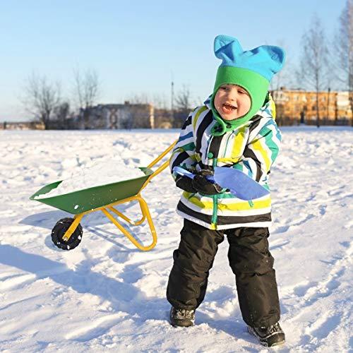 HOMGX Kids Wheelbarrow, Outdoor Kids Toy Wheelbarrow w/Steel Tray and Rubber Hand Grips, Durable Metal Construction Child Barrow, Toddler Size Garden Wheel Barrel (Green)