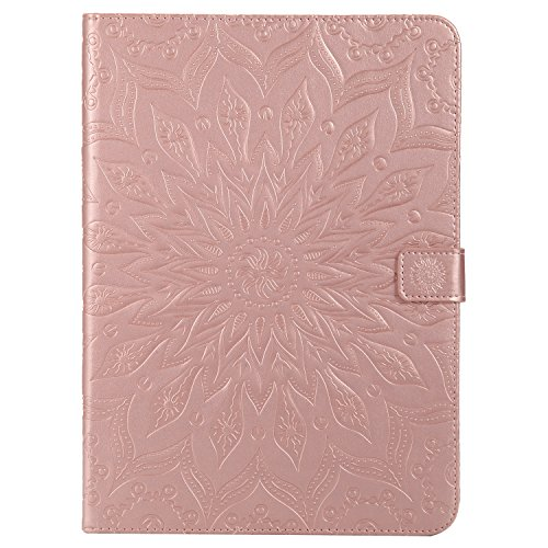 For Sale! Cfrau for New iPad 9.7 2018/2017 Kickstand Wallet Case with Black Stylus,Cute Sunflower Ma...