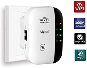 Wifi Range Extender 300Mbps Wireless Repeater Super Signal Booster 2.4GHz Amplifier With Repeater/Access Point Mode   One-Button Setup   WPS Button   Built-in Antenna   LAN Port Comply with Any Router