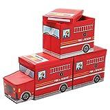 Yorbay 3X Caja de Almacenamiento para niños de Juguetes Plegable con Tapa,...