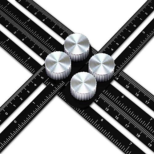 Righello Multiangolare in lega di Alluminio Righello Acciaio inossidabile Strumento misurazione per Artigiani Costruttori by WOWGO [versione aggiornata]
