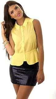 Hipster Usa23-M Shirt Top For Women - M, Yellow