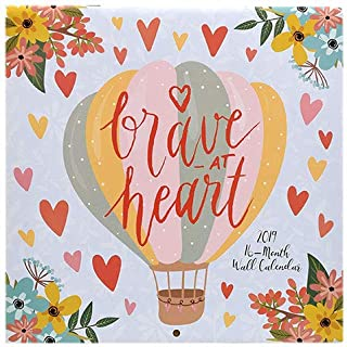 Brave at Heart Affirmations Quotes 2019 16-Month Wall Calendar by Vista