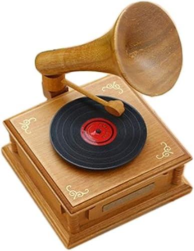 WM Home Spieluhr aus Holz Geschenk Geburtstagsgeschenk Handgefertigte Spieluhr Spieluhr Exquisite Arbeit aus Holz Spieluhr