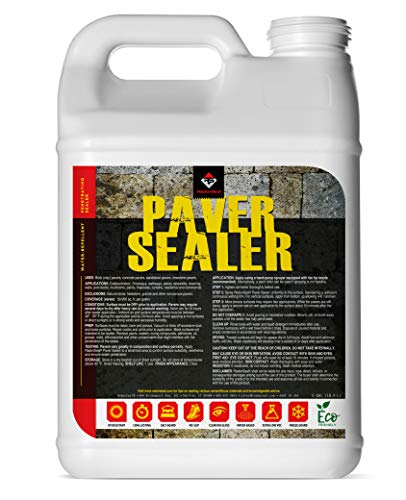 RadonSeal Penetrating Paver Sealer and Water-Repellent - Preserve and Protect Concrete, Brick, & Porous Stone Pavers. No Gloss/Non-Slip Finish (2.5-Gallons)