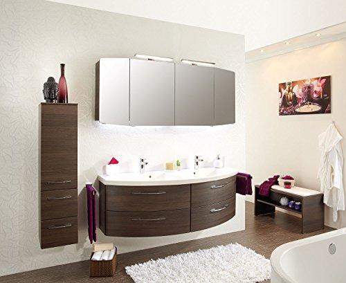 PELIPAL Cassca 3 TLG. Badmöbel Set/Waschtisch/Unterschrank/Spiegelschrank inkl. Beleuchtung /