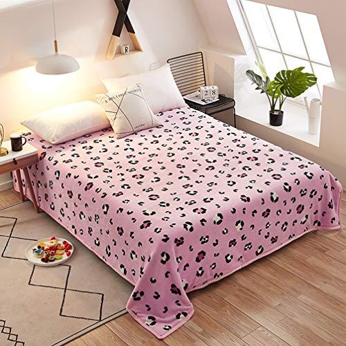 Sticker Superb Bettwäsche Korallen Vlies Samt Decke Liebe Ananas Gitter Geometrie Dreieck Leopard Spot Weiche Wärme Komfortable Decke Tagesdecke Bettwäsche (Pink Leopard,150x200 cm)