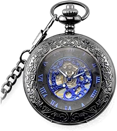 Orologio da tasca Orologio da tasca meccanico con superficie liscia con catena Natale Compleanno...