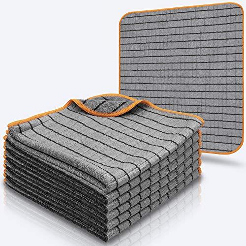 CARBOTEC® 6X Carbon Mikrofasertuch-Set mit 420 GSM – 40x40 cm, lackschonende Mikrofasertücher zur Autopflege, fusselfreie Poliertücher mit weicher Struktur und hoher Saugkraft, für Auto und Motorrad