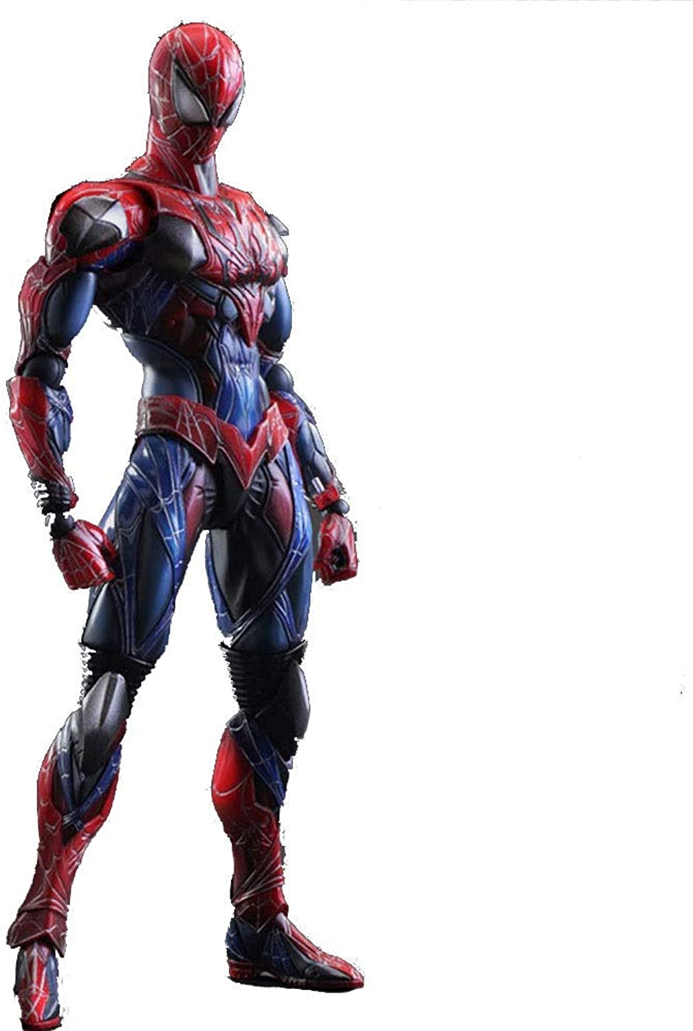PL Action Figure Marvel Spiderman, Sitting Posture,Toy Model Anime Model Modeling Scene Ornaments Souvenirs Collectibles Crafts 28cm Toys Statue