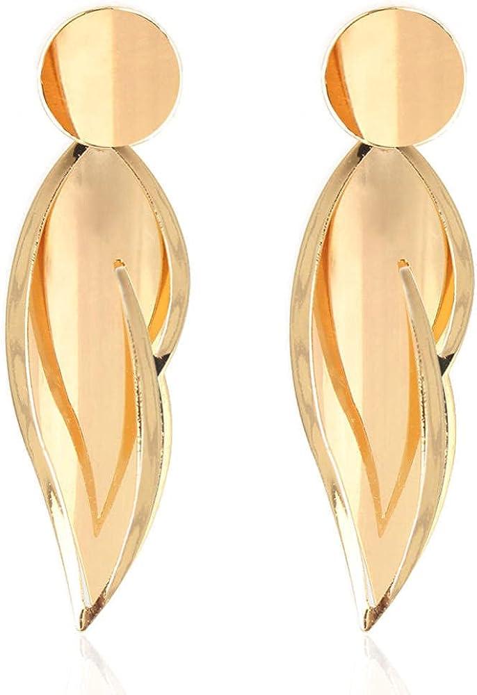 Cuff Earringsalloy Leaves Gold Earrings Earrings Ear