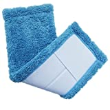 ounona cabezal de repuesto fregona mopa recambio mopa fregona de terciopelo cubre Coral Pad para hogar (azul)