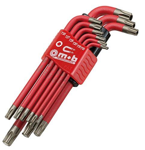 MOB Outillage 9064020101–di 9Acier au a esagono incassato Chiavi silicio S2Tamper Torx con magneti