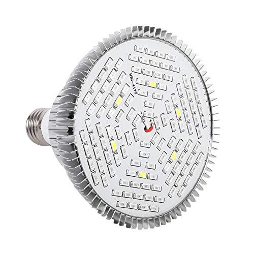 1Pc 50W 80W Full Spectrum E27 Bulb LED Plant Grow Lamps Horticulture Growing Light con termómetro Monitor de humedad para jardín(120 LED)