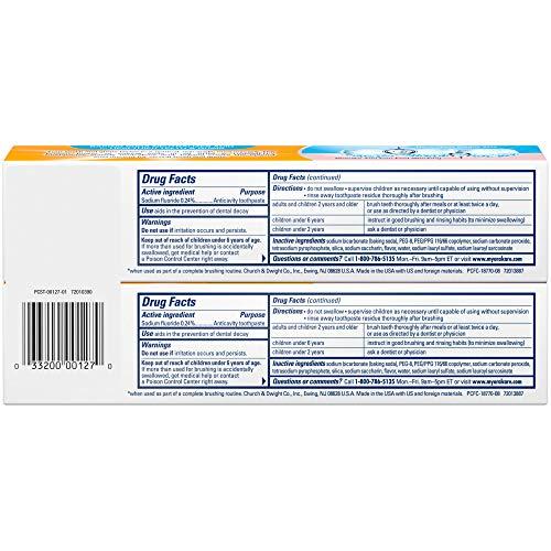 PeroxiCare de Arm & Hammer, fluoruro anti caries, bicarbonato y peróxido, menta fresca, 6 onzas, DL-263B, paquete de de 2, 1
