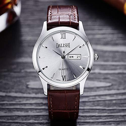 LUFEILI (Conjunto) Cinturón Reloj Pareja Cuero Pulsera de Mano Reloj de Cuarzo Reloj de Hombre Reloj de Mujer