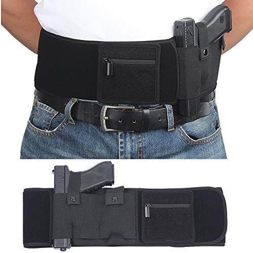 DB Belly Band Holsters for Concealed Carry, Compatible with Firearm Handgun Revolvers for Men & Women,Pistol Holster Tactical Elastic Waist Band