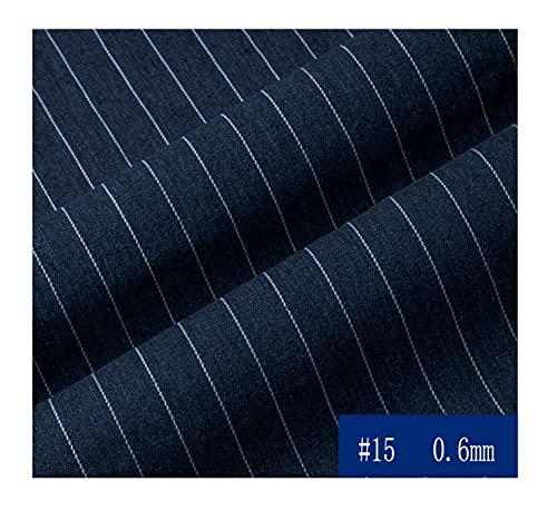 MAGFYLY Jeansstoff meterware Dark Blue Denim gestreifter Stoff, Baumwollgewebe, Denim Jeans Rock Sommerkleidung weicher Stoff, 150 cm breit (Size : 1.5 * 9M)
