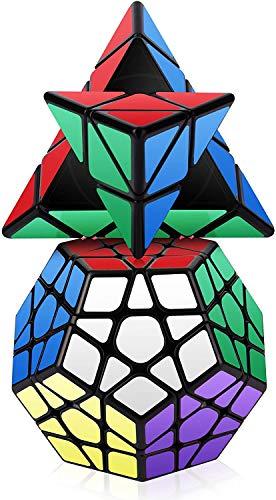 Roxenda Speed Cube Set, Magic Cube Set of Pyramid Megaminx Cube Smooth Triangle Pentagon Speedcube