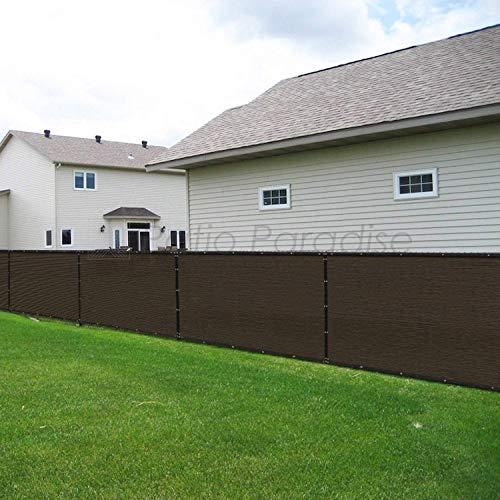 Patio Fence Privacy Screen 10' x 18', Pergola Shade Cover Canopy Sun Block, Heavy Duty Fence Privacy Netting, Commercial Grade Privacy Fencing, 180 GSM, 90% Privacy Blockage (Brown)