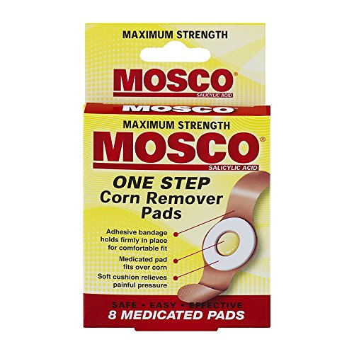 Mosco One Step Corn Remover Pads, 8 Medicated Pads