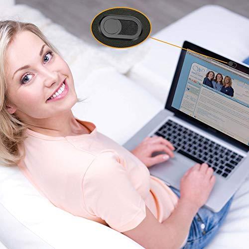 CloudValley Webcam Abdeckung, 6er-Pack, Ultra-Dünn Kamera Abdeckung Laptop für MacBook Pro, MacBook Air, Laptops, iMac, iPad, Tablets, PC, Webcam Cover Slider, Camera Cover-Schwarz