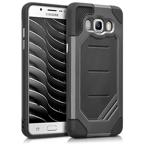 kwmobile Full Armor Case for Samsung Galaxy J5 (2016) DUOS - Heavy Duty Shockproof Protective Hybrid Case Cover - Vault Anthracite/Black