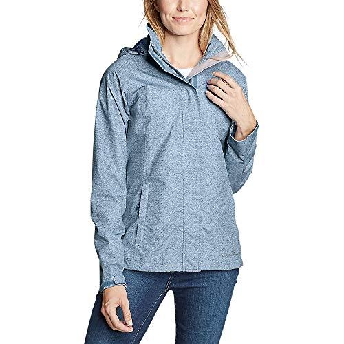 Eddie Bauer Women's Rainfoil Packable Jacket Plus, Chambray Blue Plus 3X