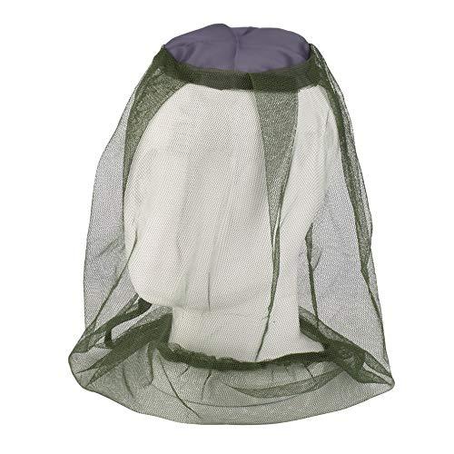 QWERTOUR Anti-Speichel Outdoor-Angelkappe Anti-Moskito-Käfer Bee Insect Mesh Hut Kopf Gesicht Schutz Net Cover Reise Camping Ausrüstung