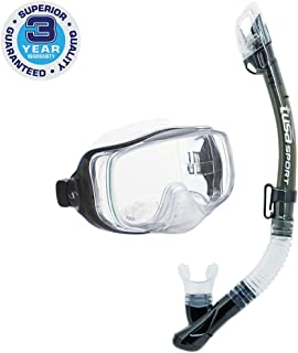 TUSA Sport Adult Imprex 3D Purge Mask and Dry Snorkel Combo (most effective on the surface)