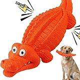 HUADADA Dog Squeaky Toys Dog Chew Crocodile Interactive Toys Durable Rubber Indestructible Training...