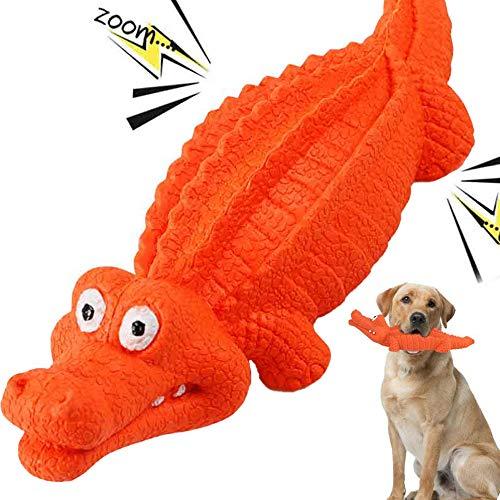 HUADADA Dog Squeaky Toys Dog Chew Crocodile Interactive Toys Durable Rubber...