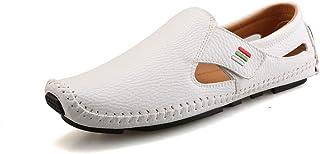 Mocasines Penny de conducción para Hombre Mocasines de Cuero de imitación Slip On Vestido Informal Zapatos náuticos Zapato...