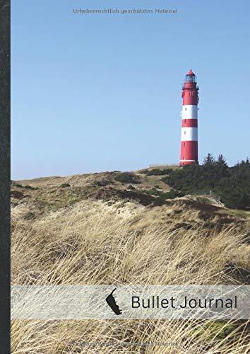 "Bullet Journal: ca. A4-Format, 100+ Seiten, Soft Cover • ""Amrum Leuchtturm"" • Original #MoinAmrum Dot Grid Notebook • Perfekt als Tagebuch, Zeichenbuch, Kalligraphie Buch"