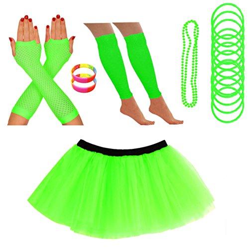 Costume Giallo Neon in Plastica Perline Collana anni/'70 /& anni/'80 Pop Art Accessorio Nuovo