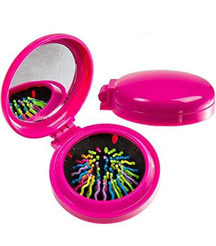 Taschenspiegel mit Bürste Colours