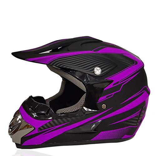 Casco de Motocross de Cara Completa para Hombre, Cascos de Moto con Sistema de ventilación, Gorras de protección para Carreras de Motos