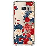 Samsung Galaxy S7 Case with Flowers, IESSVI Girl Floral Pattern Clear TPU Soft Slim Phone case for Samsung Galaxy S7 (9)