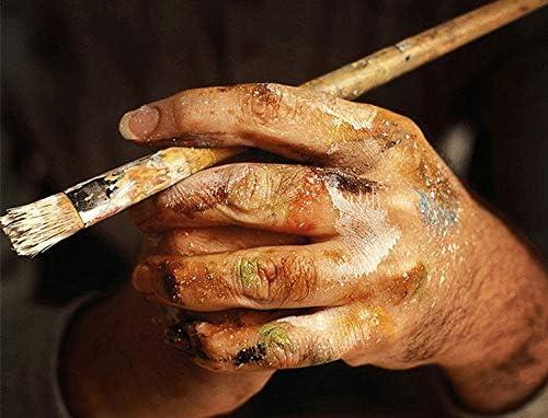 QTTZWZQ canvas schilderij decoratie afbeelding woonkamer muurkunst restaurant handgeschilderd olieverfschilderij Geel
