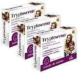 Nature Essential - Tryptoseron complex 395 mg con 5-HTP, SAM-e, magnesio, hierro y vitaminas B-3, B-5 y B-6 – 30 Cápsulas vegetales. (Pack 3 unid.)