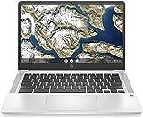 HP 14' FHD IPS Anti-Glare WLED-Backlit Chromebook Laptop, Intel Celeron N4000, 4GB DDR4, 32GB eMMC, Backlit Keyboard, WiFi, Bluetooth, Webcam, Media Reader, USB-C, Chrome OS, 32GB ABYS Micro SD Card