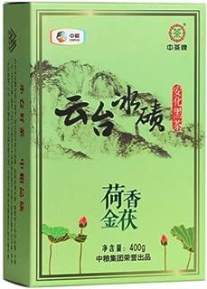 """Chinatea """"Yuntai Moraine"""" Lotus Incenseand Golden Fu Tea Dark Tea """"China's Time-honored Brand"""" Hunan Anhua Jinhua Fu Zhuan Tea 14oz"""