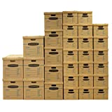 Bankers Box SmoothMove Classic Moving Kit Boxes, Tape-Free Assembly, Easy Carry Handles, 5 Small 20 Medium 5 Large, 30 Pack (7716502)