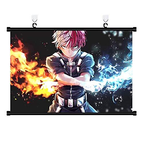 Lunanana Boku No Hero Academia Poster Stampe - MHA Wall Scroll Hanging Dipinti Art Painting Wall Scroll Poster per Decorativo Stile 01(H01)