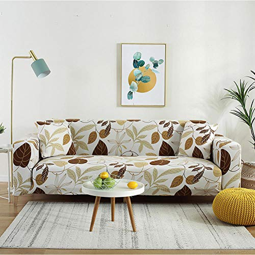Fsogasilttlv Sofa Furniture Protectors Water Repellent 2 Seater,Printed L Shape Sofa Covers For Living Room, Protector Elastic Stretch Covers For Corner Sofa Cover A 1PCS 145-185cm
