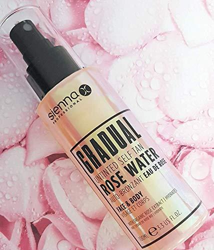 Sienna X Gradual Untinted Self Tan Rose Water, 100 ml